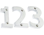From The Anvil Numerals (0-9), Satin Chrome Finish - 83920