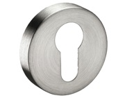 Euro Profile Keyhole Escutcheon, Satin Stainless Steel - 8401SSS