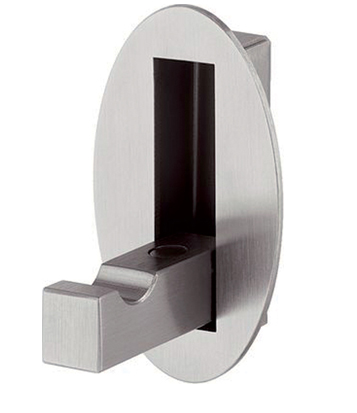 Hafele Oval Folding Coat Hook, Brushed Matt Stainless Steel Finish -  844.76.001 None