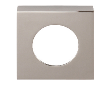 Excel 'Renova' Square Passage Cover Rose, Polished Chrome - 86057 (sold in pairs)