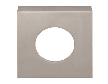Excel 'Renova' Square Passage Cover Rose, Satin Chrome - 86058 (sold in pairs)