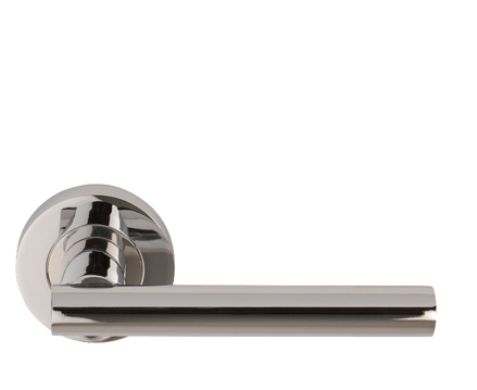 Excel 'Renova Sultan' Lever On Round Rose, Polished Chrome - 86072 (sold in pairs)