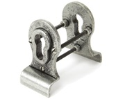 From The Anvil Blacksmith Back-To-Back Euro Cylinder Pull, Pewter - 90040