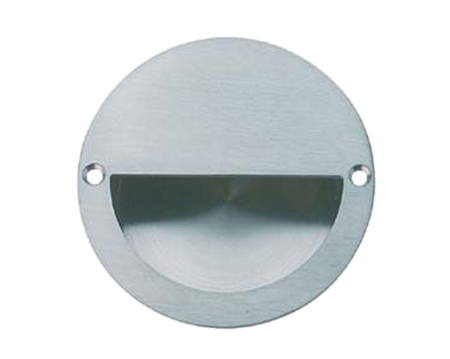 Hafele Circular Flush Pull Handle (Ø90mm x 25mm), Grade 316 Polished OR Satin Stainless Steel - 902.00.500