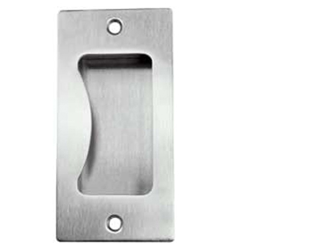 Hafele Flush Pull Handle (100mm x 50mm x 21mm), Grade 316 Satin Stainless Steel - 902.00.570