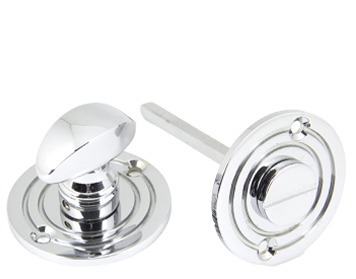 Round Bathroom Thumbturn, Polished Chrome - 90284