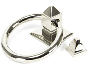 From The Anvil Ring Door Knocker, Polished Nickel - 90286