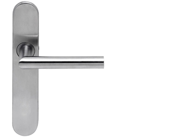 Hafele Startec 'Tessa' Handles On Backplate, Grade 304 Satin Stainless Steel - 902.90.226 (sold in pairs)