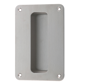 Hafele Flush Pull Handle (150mmm x 67mm), Grade 316 Satin Stainless Steel - 910.37.100