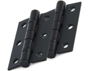 From The Anvil 3 Inch Solid Steel Ball Bearing Hinges, Black Coated - 91041 (sold in pairs)