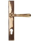 From The Anvil Newbury Slimline Lever Espagnolette, Sprung Door Handles, Polished Bronze - 91918 (sold in pairs)