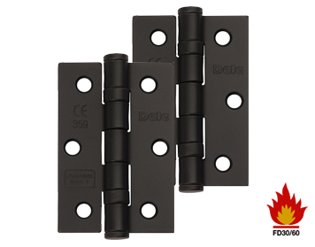 Excel Hardware 3 Inch Solid Steel Ball Bearing Hinges (Grade 7), Black Powder Coated - XL965-BLK (sold in pairs)