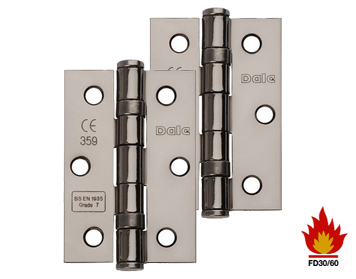Excel Hardware 3 Inch Solid Steel Ball Bearing Hinges (Grade 7), Black Nickel - XL965-BLNK (sold in pairs)