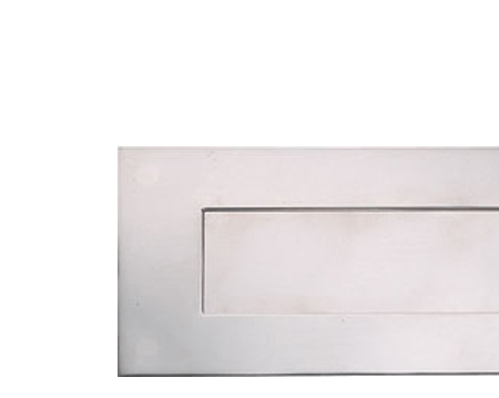 Hafele 'Spring Flap' Letter Plate (330mm x 110mm), Polished Or Satin (Matt) Stainless Steel - 986.08.310