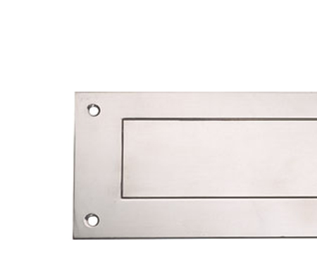 Hafele Interior Letter Flap (330mm x 110mm), Polished Or Satin (Matt) Stainless Steel - 986.08.320