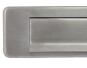 Hafele Spring Flap Letter Plate (350mm x 73mm), Satin Stainless Steel - 986.10.040
