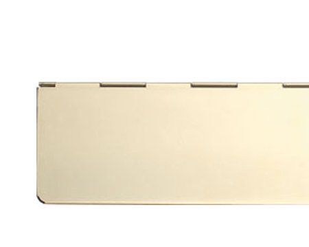 Hafele Interior Letter Flap (330mm x 80mm), Satin Stainless Seel OR PVD Polished Brass Finish - 986.10.050