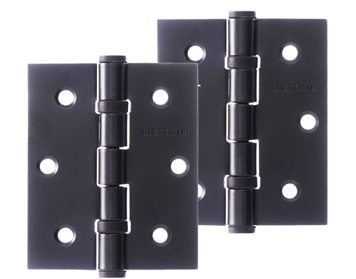 Atlantic 3 Inch Solid Steel Ball Bearing Hinges, Matt Black - A2HB32525/MB (sold in pairs)