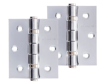 Atlantic 3 Inch Solid Steel Ball Bearing Hinges, Polished Chrome Plated - A2HB32525/PC (sold in pairs)