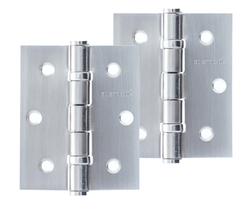 Atlantic 3 Inch Solid Steel Ball Bearing Hinges, Satin Chrome Plated - A2HB32525/SC (sold in pairs)