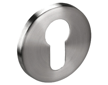 'Euro Profile' Escutcheons, Polished Or Satin Stainless Steel - A8506