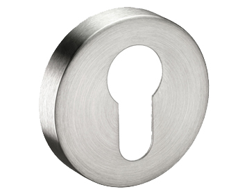 'Euro Profile' Stainless Steel Escutcheons, Polished Or Satin Finish - A8510