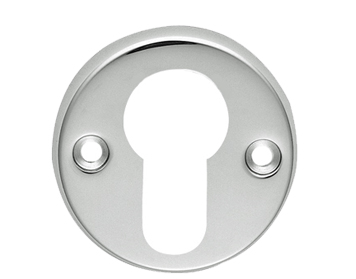 Carlisle Brass Classic Euro Profile Escutcheons, Polished Chrome, Satin Chrome Or Polished Brass - AA145