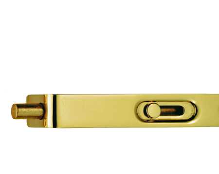 Carlisle Brass Sunk Slide Action Flush Bolt, Polished Brass - AA79PB
