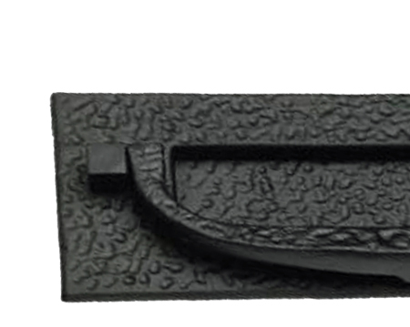 Prima Postal Door Knocker (305mm x 102mm), Antique Black Iron - AB111