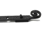 Prima Curly Tail Casement Stay (203mm, 254mm OR 305mm), Antique Black Iron - AB252