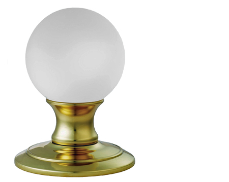 Carlisle Brass Delamain Ice Frosted Crystal Ball Mortice Door Knobs, Polished Brass - AC011PB