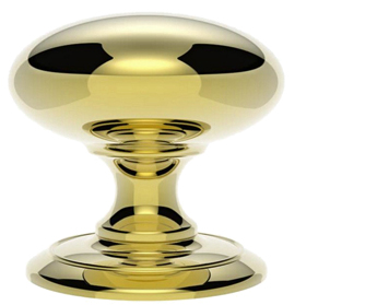 Carlisle Brass Large Centre Door Knob, Polished Brass - AC055PB