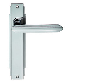 Carlisle Brass Art Deco Style Door Handles, Polished Chrome - ADR011CP (sold in pairs)