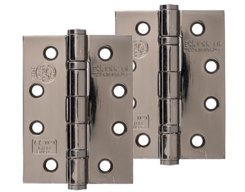 Atlantic 4 Inch 'Fire Rated' Solid Steel Ball Bearing Hinges, Black Nickel - AH1433BN (sold in pairs)