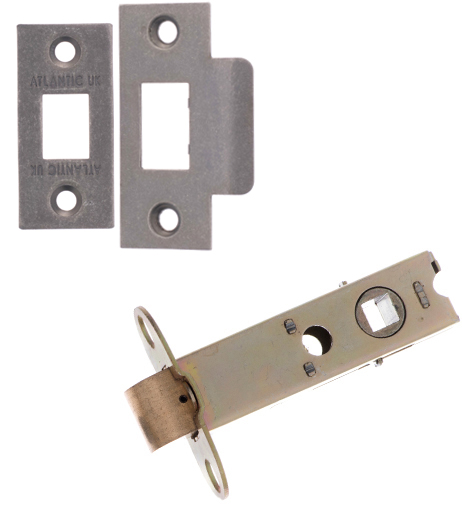 Atlantic 2.5, 3 And 4 Inch Heavy Duty Tubular Latches (Bolt Through), Distressed Silver - AL3-DS None