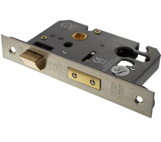 """Euro Profile Mortice Sashlock Brass CE Marked For Use on Fire Doors 76mm 3/"""""""