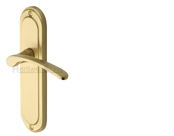 Heritage Brass 'Ambassador' Satin Brass Door Handles - AMB6200-SB (sold in pairs)