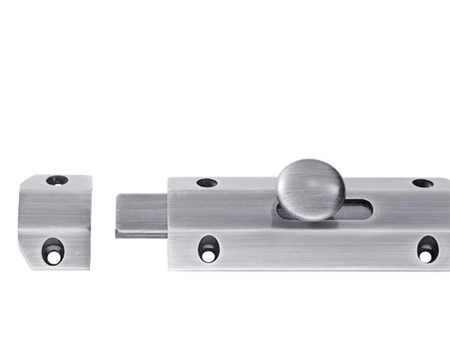 Carlisle Brass Surface Door Bolts, Satin Chrome - AQ8SC