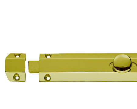 Carlisle Brass Surface Door Bolts, Polished Brass - AQ8PB