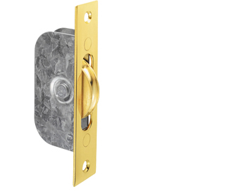 BRASS WHEEL SASH WINDOW AXLE PULLEY, POLISHED BRASS - AQ93PB
