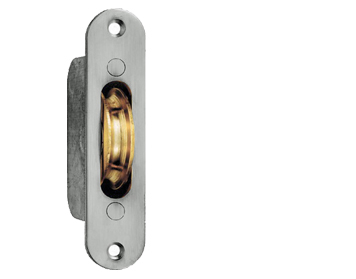 HEAVY DUTY SASH WINDOW AXLE PULLEYS, POLISHED CHROME OR POLISHED BRASS - AQ96