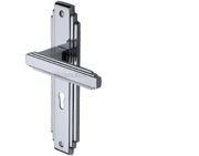 Heritage Brass Astoria Art Deco Style Door Handles, Polished Chrome - AST5900-PC (sold in pairs)