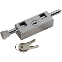 Carlisle Brass Key Lockable Multi-Purpose Door Bolt, Silver OR White Finish - AWL4105