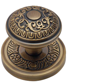 Heritage Brass 'Aydon' Mortice Door Knob, Antique Brass - AYD1324-AT (sold in pairs)