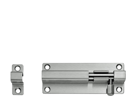 Eurospec Straight Barrel Bolts (Various Lengths), Polished Or Satin Stainless Steel - BBT1080