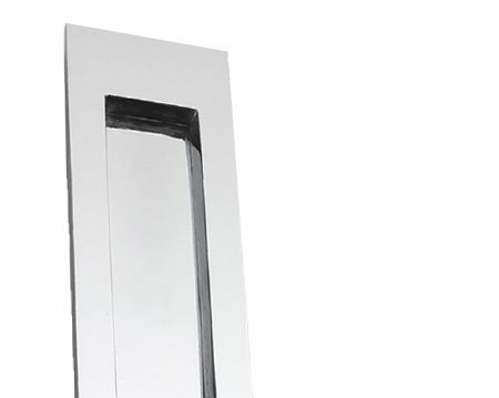 Vertical Plain Letter Plate, Polished Chrome - BC07
