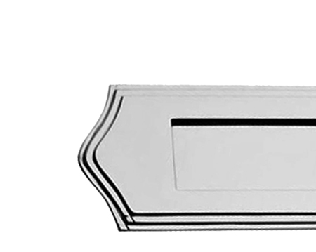 STEPPED LETTER PLATES, POLISHED CHROME OR POLISHED BRASS - PR09