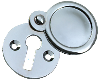 Prima Round Standard Profile Covered Escutcheon, Polished Chrome - BC103