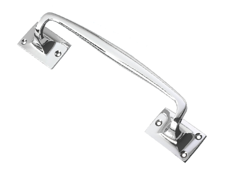 Prima Cranked Pull Handle (197mm, 245mm Or 299mm), Polished Chrome - BC116