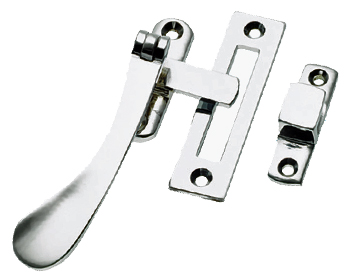 Prima Victorian Spoon End Casement Fastener, Polished Chrome - BC125